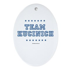 Team Kucinich Oval Ornament