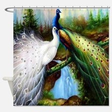 Two Peacocks Shower Curtain