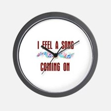 SONG COMING ON Wall Clock