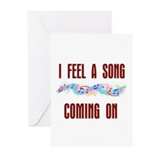 SONG COMING ON Greeting Cards (Pk of 10)