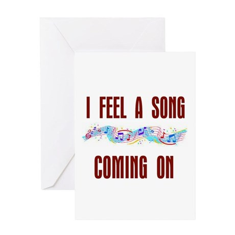 SONG COMING ON Greeting Card