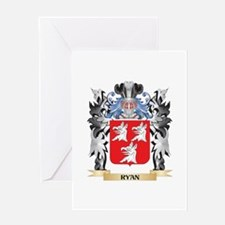 Ryan Coat of Arms - Family Crest Greeting Cards