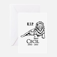 R.I.P. Cecil Greeting Cards