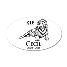 R.I.P. Cecil Wall Decal
