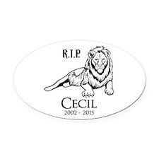 R.I.P. Cecil Oval Car Magnet