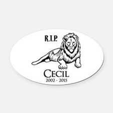 R.I.P. Cecil Oval Car Magnet