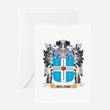 Ryland Coat of Arms - Family Crest Greeting Cards