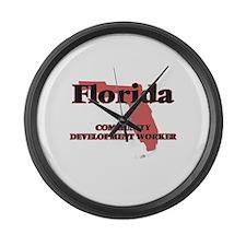 Florida Community Development Wor Large Wall Clock