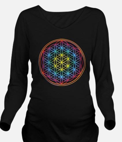the flower of life Long Sleeve Maternity T-Shirt