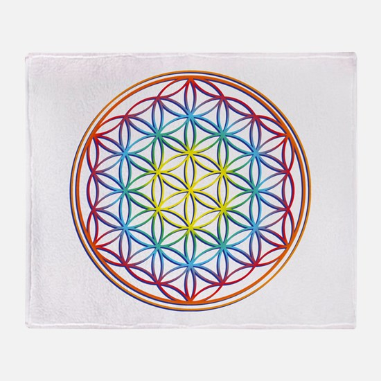 the flower of life Throw Blanket