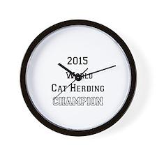 2015 WORLD CAT HERDING CHAMPION Wall Clock