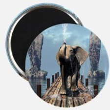 Elephant on a jetty Magnets