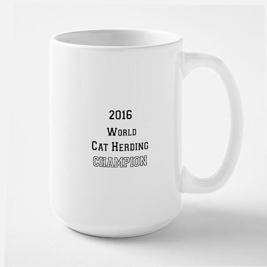 2016 WORLD CAT HERDING CHAMPION Large Mug