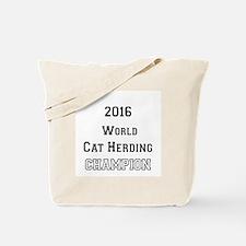 2016 WORLD CAT HERDING CHAMPION Tote Bag