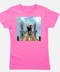 Elephant on a jetty Girl's Tee