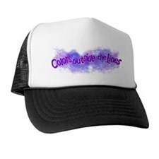 Cute Color outside the lines Trucker Hat