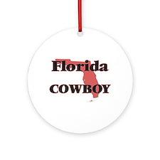 Florida Cowboy Round Ornament