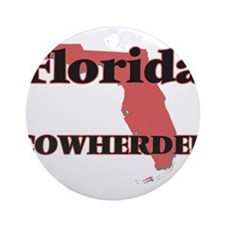 Florida Cowherder Round Ornament