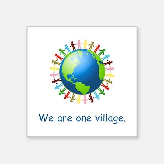 Rainbow Unity Globe Gifts Sticker