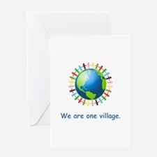 Rainbow Unity Globe Gifts Greeting Cards