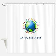 Rainbow Unity Globe Gifts Shower Curtain