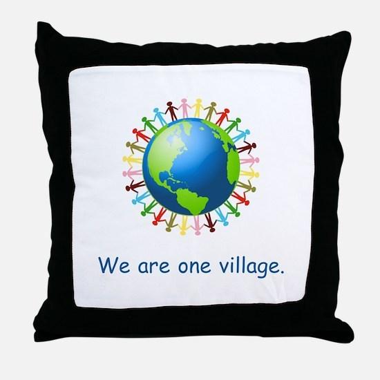 Rainbow Unity Globe Gifts Throw Pillow