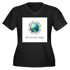 Rainbow Unity Globe Gifts Plus Size T-Shirt