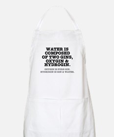 WATER IS COMPOSED OF TWO GINS - OXYGIN HYDR Apron