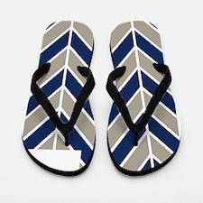 BYU Chevron Flip Flops