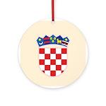 Croatia COA Ornament (Round)