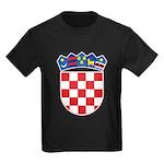 Croatia COA Kids Dark T-Shirt