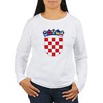 Croatia COA Women's Long Sleeve T-Shirt