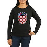 Croatia COA Women's Long Sleeve Dark T-Shirt