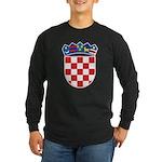 Croatia COA Long Sleeve Dark T-Shirt