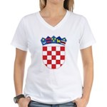 Croatia COA Women's V-Neck T-Shirt