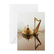 Cello & Harp Greeting Card