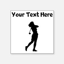 Woman Golfer Sticker