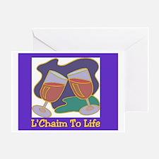 L'Chaim Jewish New Years Greeting Card