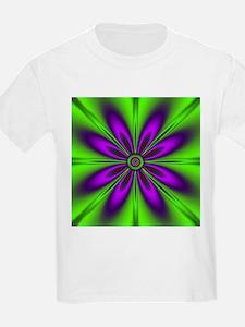 Purple Green Flower by designeffects T-Shirt