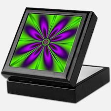 Purple  Green Flower by designeffects Keepsake Box