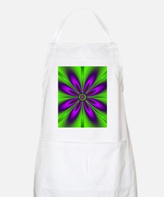 Purple Green Flower by designeffects Apron
