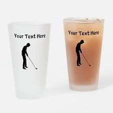 Golfer Drinking Glass