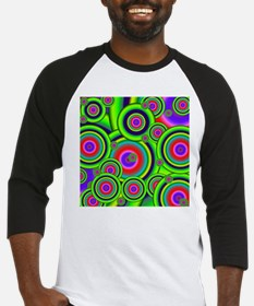 Psychedelic Circles by designeffec Baseball Jersey