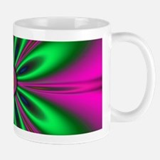 Green Flower on Pink by designeffects Mugs