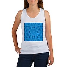 Blue Pattern Flower by designeffects Tank Top