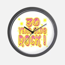 30 Year Olds Rock ! Wall Clock