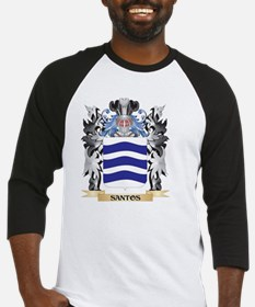 Santos Coat of Arms - Family Crest Baseball Jersey