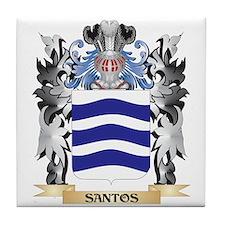 Santos Coat of Arms - Family Crest Tile Coaster