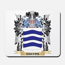 Santos Coat of Arms - Family Crest Mousepad