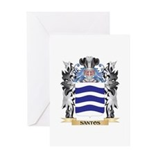 Santos Coat of Arms - Family Crest Greeting Cards